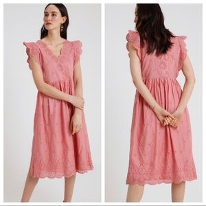 Gap Midi Eyelet Dress Potpourri Pink Size XS